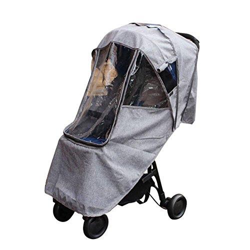 circulor Universal Regenschutz, Kinderwagen Regenschutz Sichtfenster Leinen Regenverdeck Regenhaube Für Kinderwagen Buggys Sportwagen Babywannen,Gute Luftzirkulation