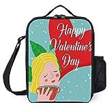 Bolsa térmica para almuerzo con diseño de postre feliz día de San Valentín para mujer, bolsa térmica de 25,4 x 20,3 x 7,6 cm, con soporte para hombres y niñas