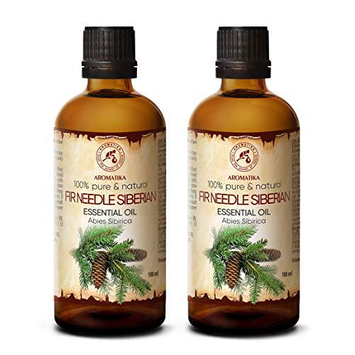 Huile Essentielle de Sapin 200ml - Oleum Pini Sibiricum - 100% Naturelle Essentielle Pur - Parfaite pour le Sauna - Aromathérapie - Relaxation - Diffuseur de Arômes