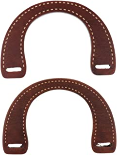 Lovoski 2pcs Handmade Bag Wooden Purse Handle Handcraft Supplies Bag Accessories
