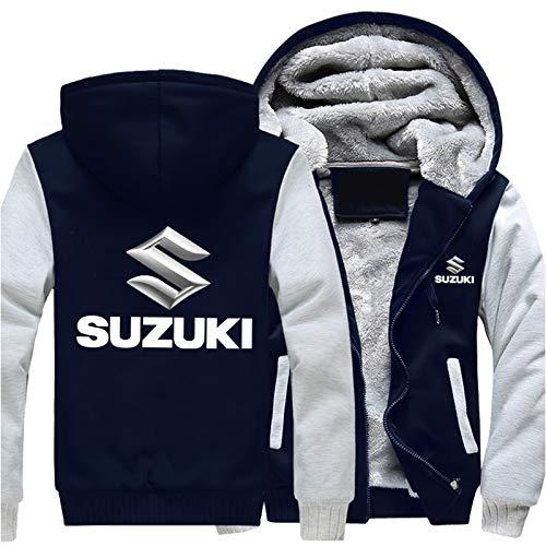 Herren Kapuzenpullover,Hoodie - 3d Suzuki Druck Pullover Lange Ärmel Sweatshirts Plus Fleece Jacken B-3X-Large