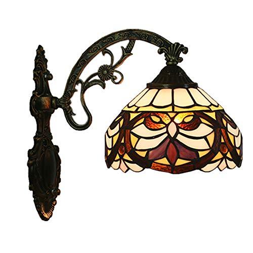 ZMLG Tiffany Lámpara De Pared LED Estilo Rústico, E27 Barroco Aplique De Pared Pantalla De Vitral Iluminación De Pared Pastoral Para Habitación De Niños Cocina Balcón Decoración Iluminación