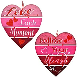 Valentine's Day Message Hanging Hearts Wall Decorations 11.25x12.5-in - Pack Of 2