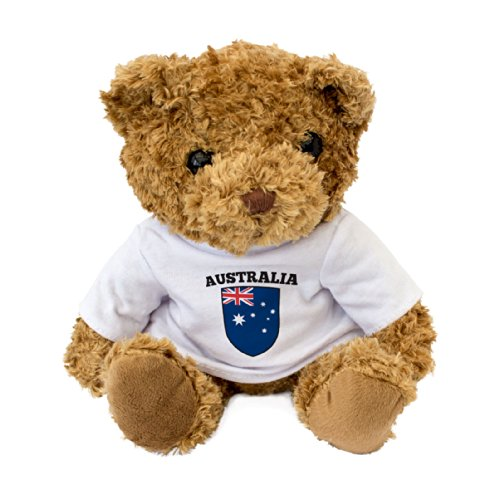 Londen teddybeer met Australië vlag – cadeau Australisch fan cadeau