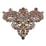 EMDOMO 2 parches de diamantes de imitación florales para zapatos, ropa de...