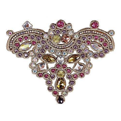 2pieces moda flores diamond parches insignias brillantes