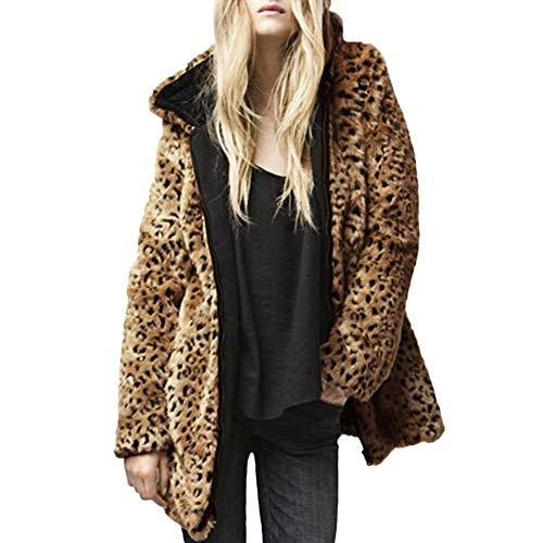 FRAUIT dames luipaard winterjas rits fleece jas nepbont mantel casual cardigan losse warm zacht comfortabel outwear mode streetwear casual feestelijke kleding blouse top coat