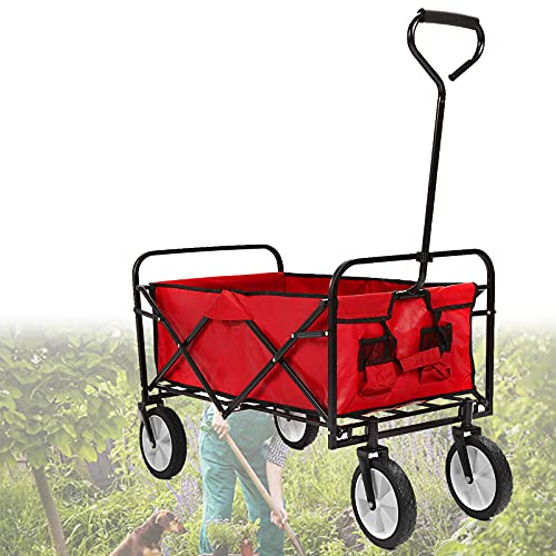 EFGS Carro de Camping con Carga de 150 kg, Carro de jardín Resistente para Tela Oxford Impermeable 600d, Carro de Playa Plegable para Compras, jardinería, Camping, Pesca