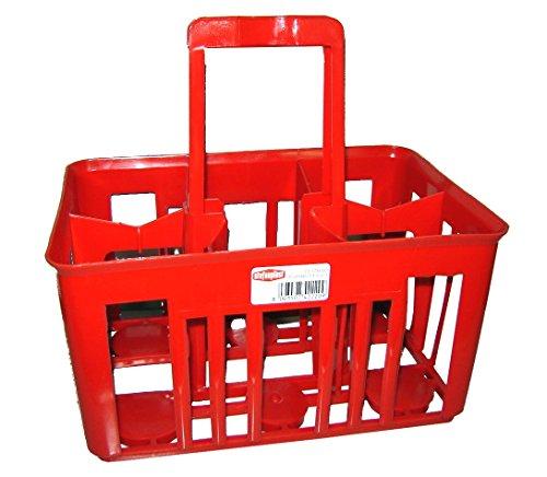 Stefanplast Porte-Bouteille pour Bouteille de 1 Litre, Rouge