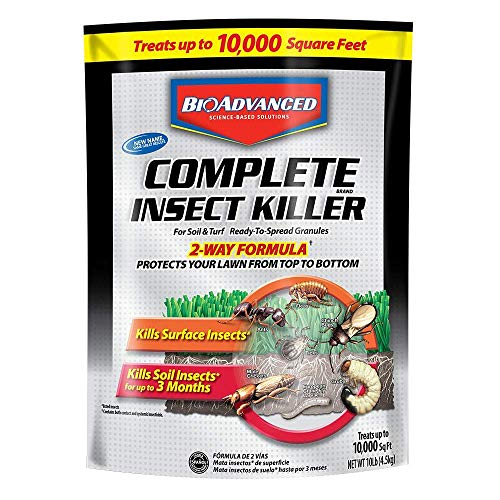 Bayer 700288S Advanced Complete Insect Killer for Soil and Turf Granules, 10-Pound - 2 Pack (Can not Ship to CA, CT and MD)