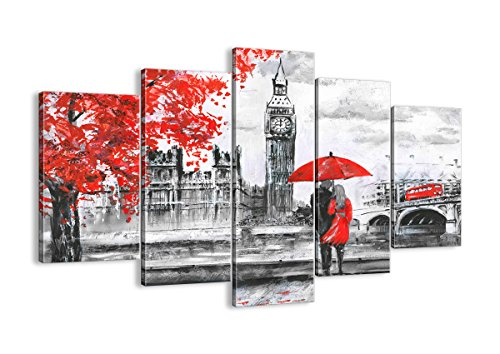 Cuadros Decoracion Salon Blanco Y Rojo cuadros decoracion salon  Marca ARTTOR Cuadro sobre lienzo Tipo EA