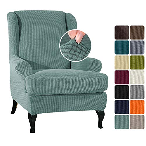 Funda para sillón Nissaner, para orejas, elástica, para sillón de orejas (anchura 70-80 cm x altura 95-110 cm)