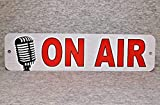 Plaque en métal on AIR Radio Show Station Diffusion Live News Diffusion Magazine TV...