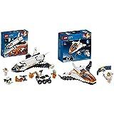 LEGO City Space Port Juguete de Construcción de Lanzadera Científica a Marte + City Space Port - Misión: Reparar el Satélite, Set de Construcción Inspirado en la NASA