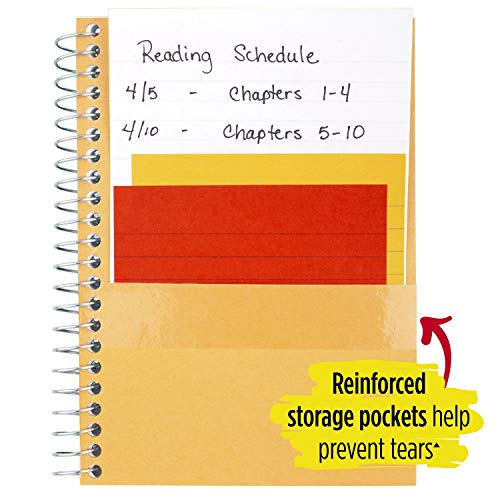 """Five Star Spiral Notebooks, 1 Subject, College Ruled Paper, 100 Sheets, 7 x 5"""", Personal Size, Colors Selected For You, 2 Pack (73707) Photo #6"""