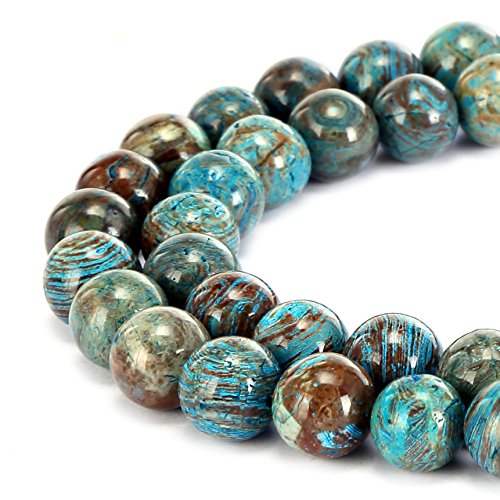 BRCbeads Gorgeous Natural Crazy Blue Lace Agate Gemstone Smooth Round Loose Beads 10mm Approxi 15.5 inch 35pcs 1 Strand per Bag for Jewelry Making