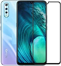 Casodon [Anti Glare] [Scratch Proof] Full Coverage 5D Tempered Glass for Vivo S1 - Black - Pack of 2
