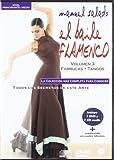 El Baile Flamenco Vol 3: Guajiras - Rumbas - Peteneras, Colección de 10 DVDs, Nivel Principiante/Medio, Incluye DVD y CD de Audio