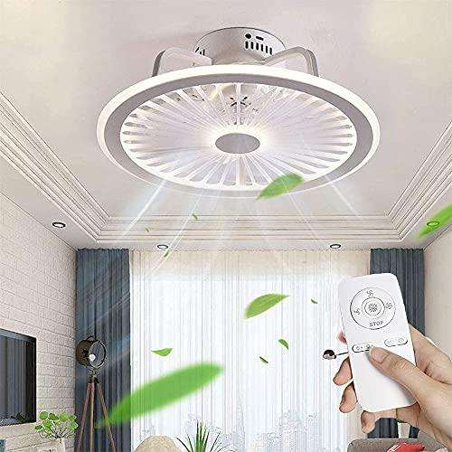 LED Ventilatori da Soffitto con Lampada Stile Moderno con Velocità del Vento Regolabile e APP Telecomando Luci LED Dimmerabile Illuminazione Ventilatore Silenzioso per Soggiorno Camera da Letto