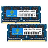 Rasalas 16GB DDR3 (2x8GB) DDR3 1333MHz SODIMM PC3-10600 CL9 204-Pin Non-ECC Unbuffered Notebook Laptop RAM Memory Upgrade Kit