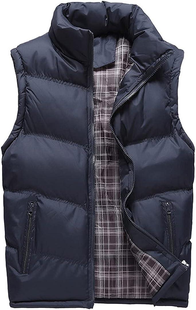 Men Vest Jacket Warm Sleeveless Jackets Coats Male Winter Waistcoat Vest Veste
