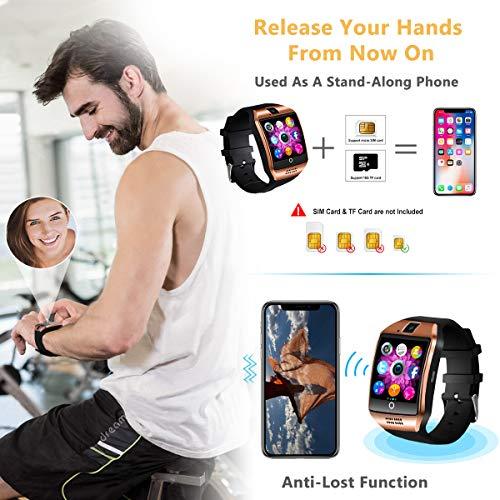 Euipxo Bluetooth Smartwatch, Sport Uhr Fitness Tracker Wasserdicht, Schrittzähler Uhr, Schlaftracker, Stoppuhr für Herren Damen Alarm Anruf SMS Whatsapp Beachten Kompatible für Smartphone Android Handy Boys