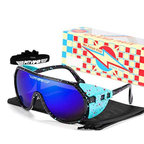 HUALUWANG Gafas de Sol Pit Viper, Gafas Deportivas para Ciclismo al Aire Libre, Gafas de Sol Polarizadas UV400 para Hombres y Mujeres (Color : A)