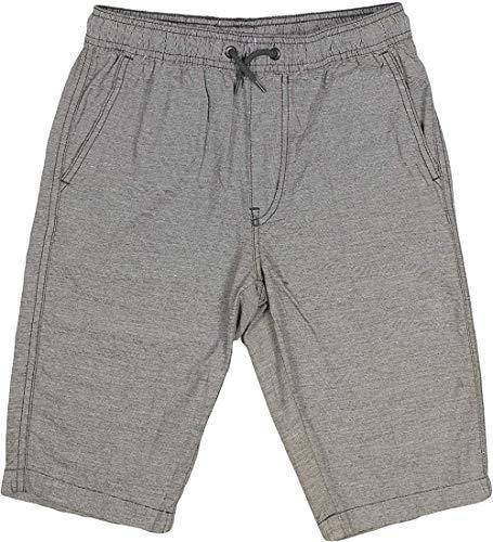 UNIONBAY Boys' 100% Cotton Cargo Short with Pull On, Elastic Waist (Medium (10/12), Grey)