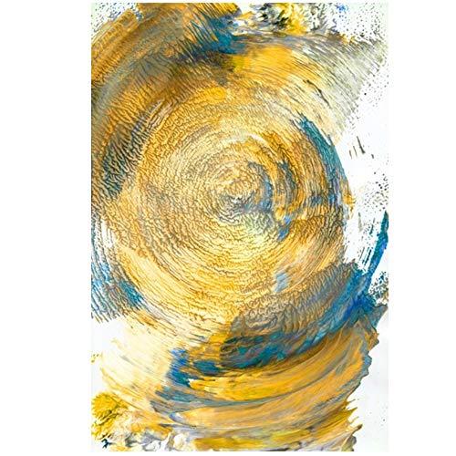 YANGDINGYAO Cuadro en Lienzo Pintura Moderna Cuadro Abstracto de la línea de montaña para la decoración de la Sala de Estar