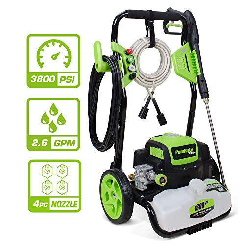 PowRyte Elite 3800 PSI 2.6GPM Electric Pressure Washer,Electric Power Washer with 4 Quick-Connect Spray Tips, Cars...