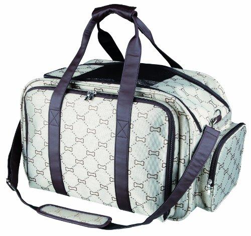 Trixie 28903 Tasche Maxima, erweiterbar, 33 × 32 × 54 cm, beige/braun