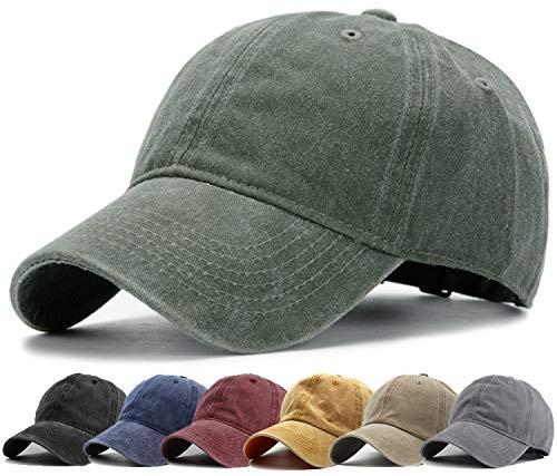 HH HOFNEN Men Women Washed Distressed Twill Cotton Baseball Cap Vintage Adjustable Dad Hat