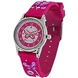 Reflex Zeitlern Mädchenuhr rosa 3D Schmetterling Silikonarmband REFK00011 + Uhr Lesen Urkunde