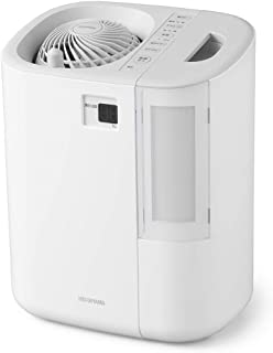 アイリスオーヤマ サーキュレーター加湿器 ハイブリッド式 上下左右首振り 最大加湿量550ml/h 湿度デジタル表示 グレー/ホワイト HCK-5519