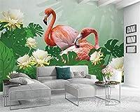 XSJ 壁紙カスタム写真壁画赤い熱帯植物の葉の背景壁画リビングルームの3D壁紙-200X140CM
