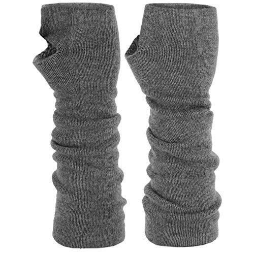Roeckl Stulpen mit Kaschmir Armstuplen Handschuhe Strickhandschuhe Halbhandschuhe (One Size - anthrazit)