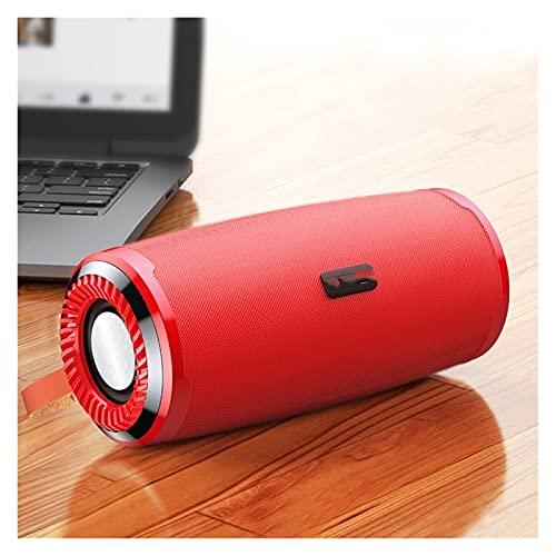 LTH-GD Mini Altavoz para el hogar Bluetooth-Compatible 5.0 Altavoz Exterior inalámbrico Bajo Impermeable USB Soporte de Altavoces AUX TF Altavoz de subwoofer Altavoz inalámbrico (Color : Red)
