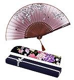 Amajiji Folding Fans for Women, 8.27'(21cm) Women Hand Held Silk Folding Fans...