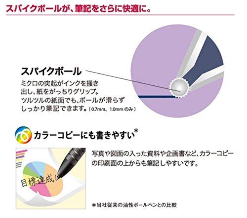 三菱鉛筆加圧ボールペン替芯パワータンク0.7黒10本SNP7.24