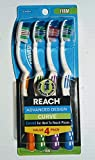 Reach Advanced Design Curve for Hard to Reach Places 4 Pack With Firm Bristles