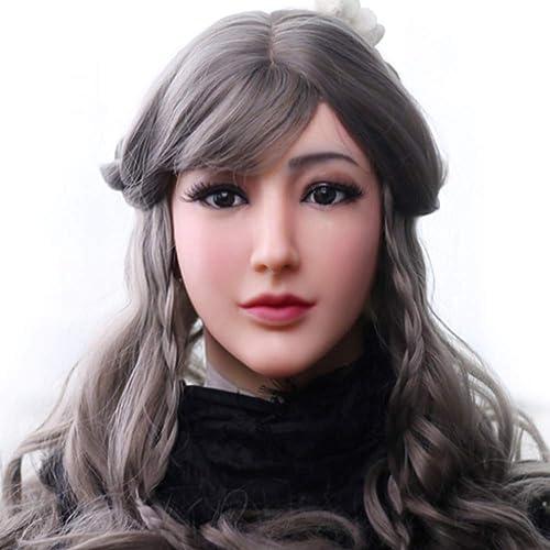 preferente WANGXN Máscara Femenina de de de Silicona Realista con Maquillaje Ligero, látex, máscara de Cabeza Realista Humana.  Venta barata