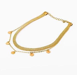 Collar dorado con dobel cadena para mujer Vaelor Brasilia