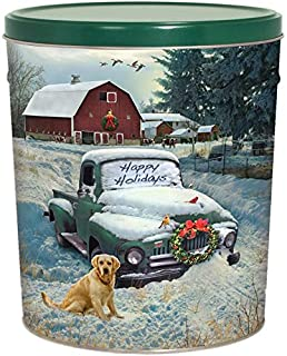 C.R. Frank Popcorn - Gourmet Popcorn Tin, 6.5 Gallon, Countryside Christmas (All Butter)
