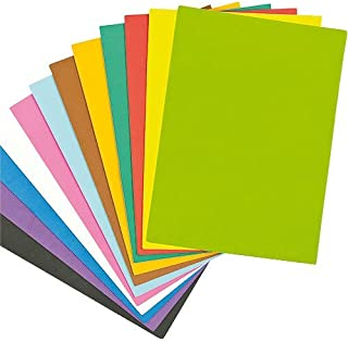 Baker Ross Foam Assorted Coloured Sheets 29cm x 21cm, 2mm Thick, for Children's Crafts, Collage - Pack of 18