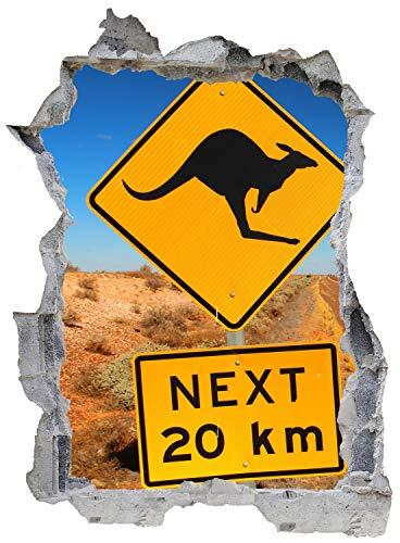 Australien Schild Kangaroo Wandtattoo Wandsticker Wandaufkleber E0098 Größe 67 cm x 90 cm