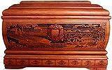 LSYFCL urna Catalunya Mini urnas de cremación para Mascotas Ataúd de Madera Maciza, Exquisita decoración en Relieve.