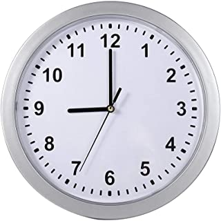 CONGGE 2 In 1 Wall Clock Safe Box, Silver Round Clock + Hidden Secret Container, Wall Clocks Battery Operated Non Ticking,...