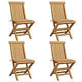 Festnight Set de 2 sillas Plegables, Silla de jardín, Madera Maciza, Ideal para Balcones, terrazas o Jardines