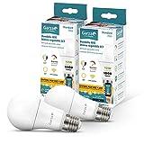 Garza ® Smarthome - Pack 2 Bombilla LED Estandar Intelegente Wifi E27, luz...