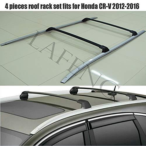 LAFENG Juego de barras de techo para Honda CRV CR-V 2012-2016, 4 piezas de portaequipajes y juegos de barras transversales.